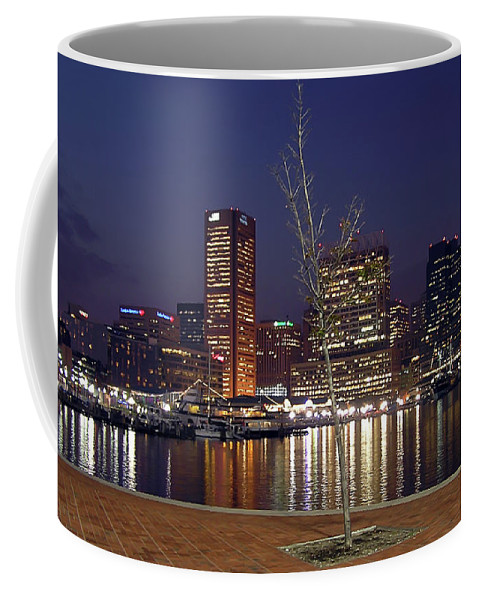 2d Coffee Mug featuring the photograph Baltimore Reflections by Brian Wallace
