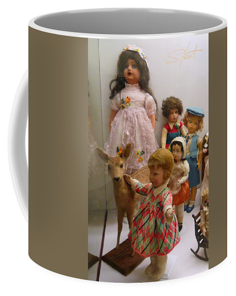 Deer Coffee Mug featuring the photograph Bambi And Baby by Charles Stuart