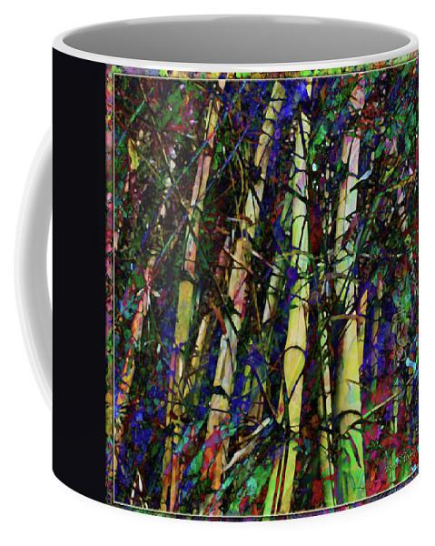 Bamboo Coffee Mug featuring the digital art Bamboo by Barbara Berney