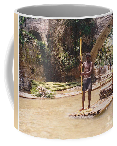 River Coffee Mug featuring the photograph Bamboo Boat by Michelle Powell