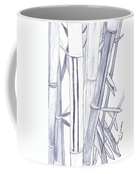 Bamboo Coffee Mug featuring the painting Bamboo Shade by Alexis Grone