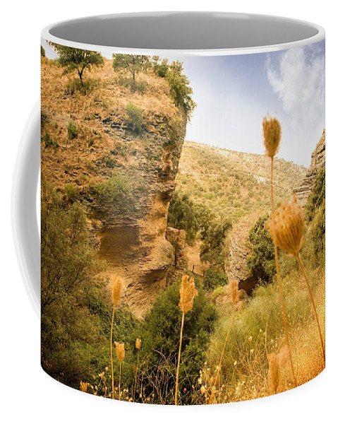 Spain Coffee Mug featuring the photograph Bandit Country Near The Edge Of The Fan In Ronda Area Andalucia Spain by Mal Bray