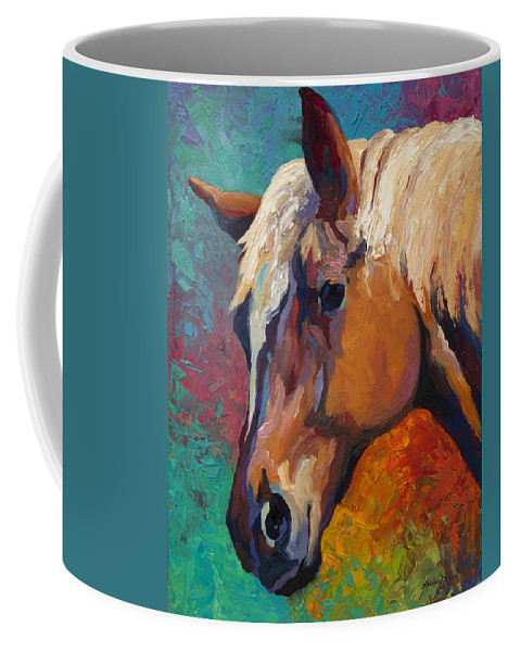 Horses Coffee Mug featuring the painting Bandit by Marion Rose