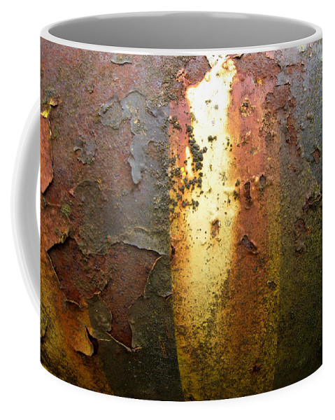 Weathered Metal Coffee Mug featuring the photograph Bands Of Color by Elaine Booth-Kallweit