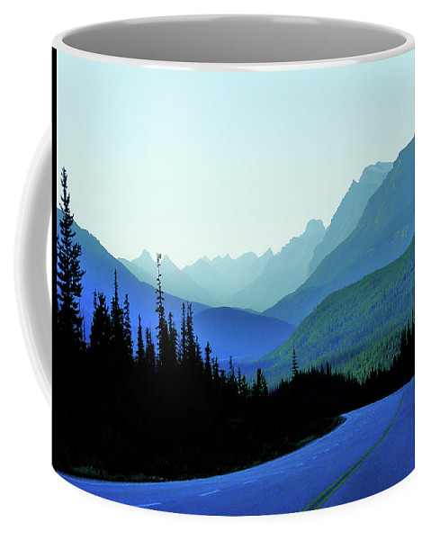 Blue Coffee Mug featuring the photograph Banff Jasper Blue by Blair Wainman