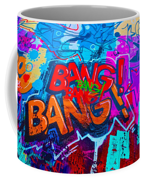 Bang Graffiti Coffee Mug featuring the painting Bang Graffiti Nyc 2014 by Joan Reese