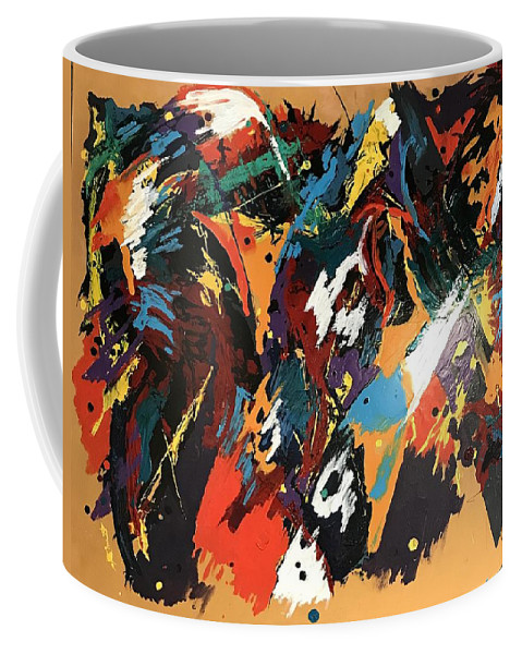 Thailand Coffee Mug featuring the mixed media Bangkok, Thailand Anzus Expatriots Annual Party by Lanny Ross