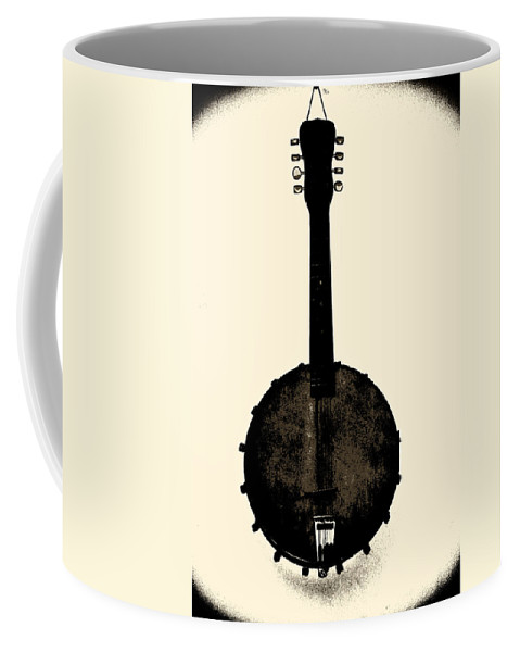 Banjo Coffee Mug featuring the photograph Banjo Mandolin by Bill Cannon