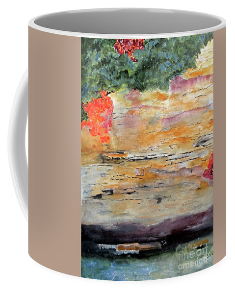 River Coffee Mug featuring the painting Bank Of The Gauley River by Sandy McIntire