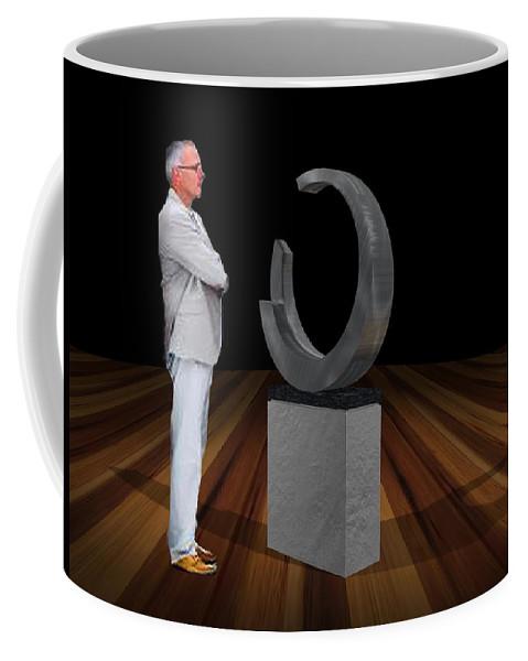 Sculpture Coffee Mug featuring the sculpture Bank Sculpture Design by Peter Piatt