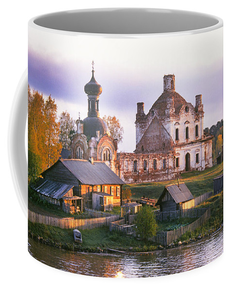 Old Coffee Mug featuring the photograph Banks Of The Volga by Buddy Mays
