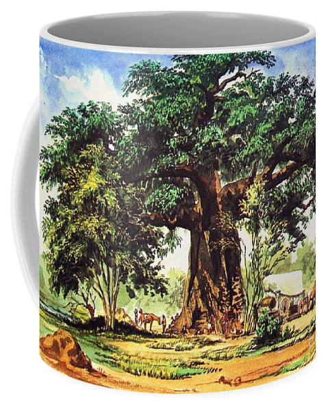 Pd Coffee Mug featuring the painting Baobab Tree - South Africa by Pg Reproductions
