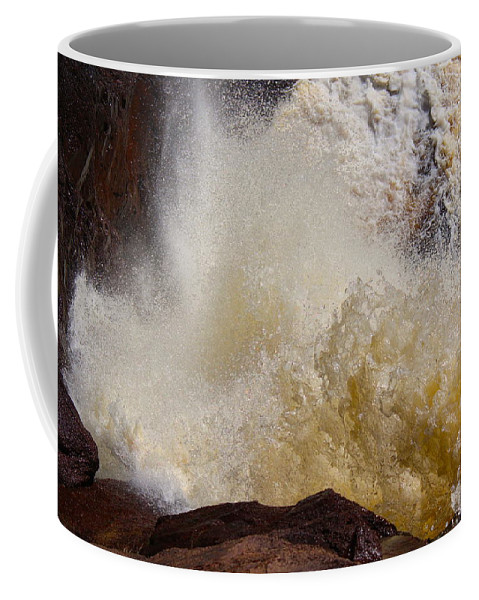 North Coffee Mug featuring the photograph Baptism River Falls Five by Nicholas Miller