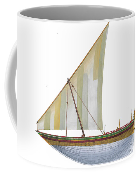 Coffee Mug featuring the painting Baqarah by The Collectioner