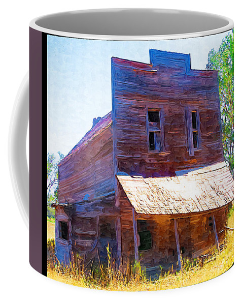 Barber Montana Coffee Mug featuring the photograph Barber Store by Susan Kinney