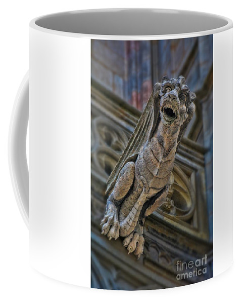 Barcelona Coffee Mug featuring the photograph Barcelona Dragon Gargoyle by Henry Kowalski