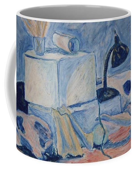 Still Life Coffee Mug featuring the pastel Bare Bones by Jean Haynes