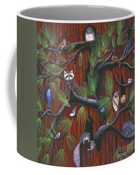 Owl Coffee Mug featuring the painting Bark by Jennifer Lake