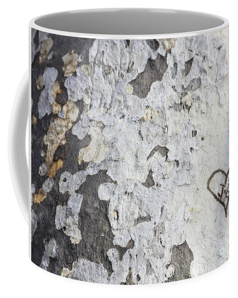 Bark Coffee Mug featuring the photograph Bark With Heart by Carol Groenen