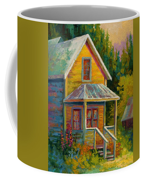 Historic Coffee Mug featuring the painting Barkerville Orphan by Marion Rose