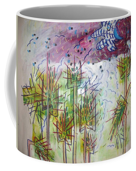 Barly Paintings Coffee Mug featuring the painting Barly And The Blue Moon by Seon-Jeong Kim