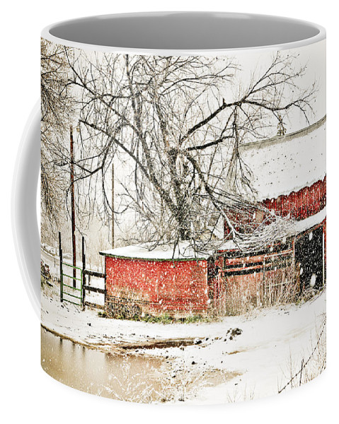 Americana Coffee Mug featuring the photograph Barn And Pond by Marilyn Hunt