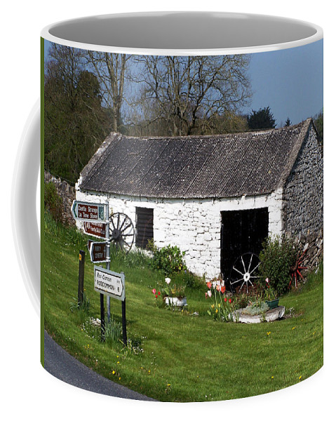 Ireland Coffee Mug featuring the photograph Barn At Fuerty Church Roscommon Ireland by Teresa Mucha