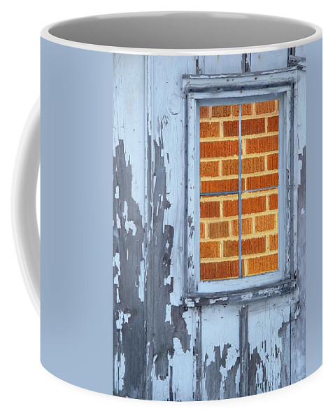 Barn Coffee Mug featuring the photograph Barn Brick Window by Tim Allen