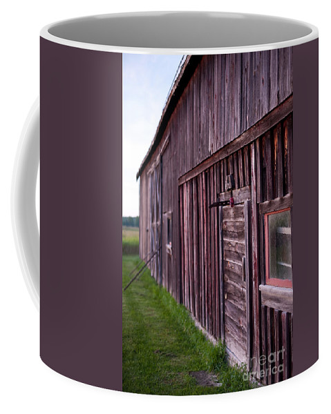 Rustic Coffee Mug featuring the photograph Barn Door Small by Steven Dunn
