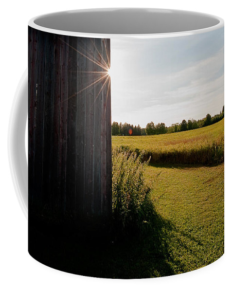 Barn Coffee Mug featuring the photograph Barn Highlight by Steven Dunn