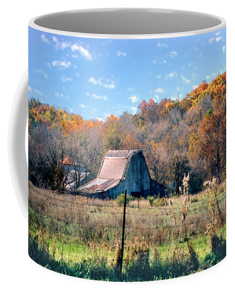 Landscape Coffee Mug featuring the photograph Barn In Liberty Mo by Steve Karol
