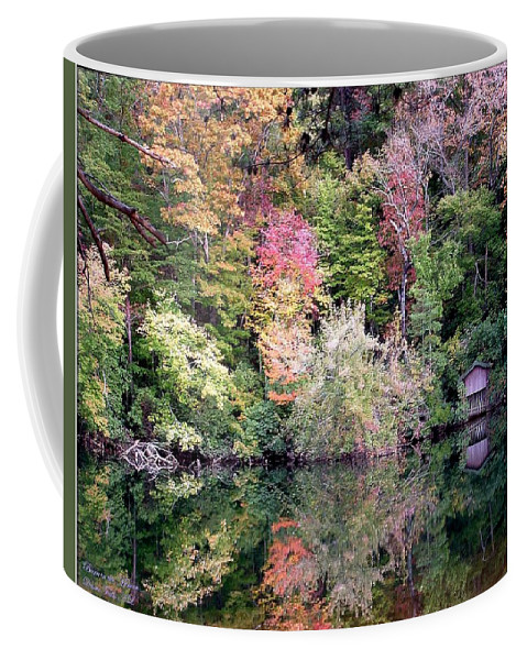 Nature Coffee Mug featuring the photograph Barn In The Mirror by Robert Meanor