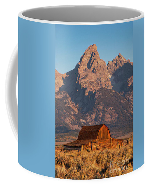 Jackson Hole Coffee Mug featuring the photograph Barn In The Tetons One by Bob Phillips