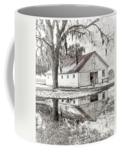 Landscape Coffee Mug featuring the photograph Barn Reflection by Scott Hansen