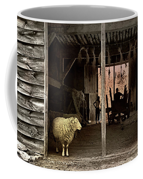 Barn Coffee Mug featuring the photograph Barn Stock by Diana Angstadt