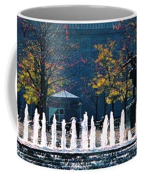 Landscape Coffee Mug featuring the photograph Barney Allis Plaza-kansas City by Steve Karol