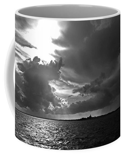 Barnstable Coffee Mug featuring the photograph Barnstable Harbor Sky by Charles Harden