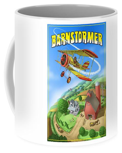 Planes Coffee Mug featuring the digital art Barnstormer by Scott Ross