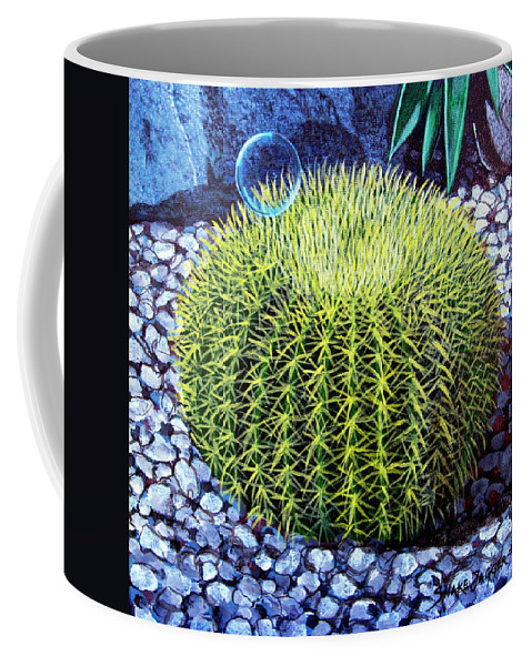 Nature Coffee Mug featuring the painting Barrel Bubble by Snake Jagger