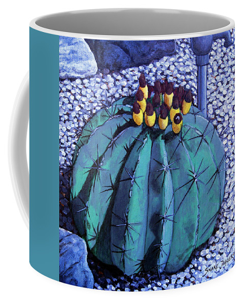 Nature Coffee Mug featuring the painting Barrel buds by Snake Jagger