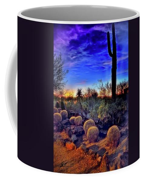 Desert Flora Coffee Mug featuring the photograph Barrel Cacti Ambling Along by Thomas Patterson