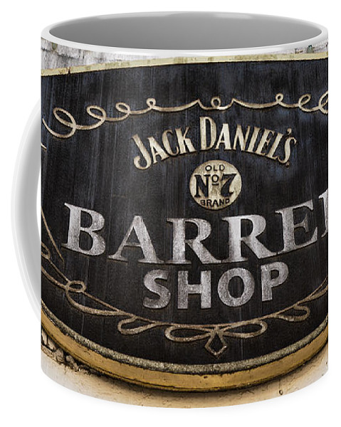 Jack Daniels Coffee Mug featuring the photograph Barrel Shop by Stephen Stookey