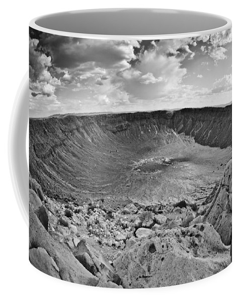 Meteor Coffee Mug featuring the photograph Barringer Meteor Crater #2 by Robert J Caputo