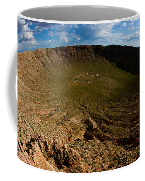Meteor Coffee Mug featuring the photograph Barringer Meteor Crater #3 by Robert J Caputo