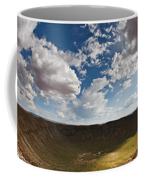 Meteor Coffee Mug featuring the photograph Barringer Meteor Crater #4 by Robert J Caputo
