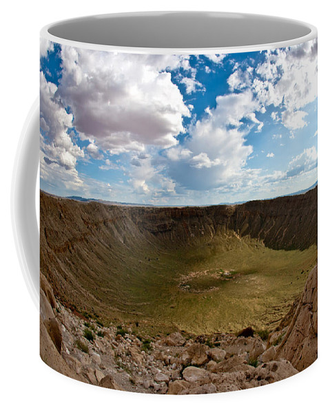 Meteor Coffee Mug featuring the photograph Barringer Meteor Crater #5 by Robert J Caputo
