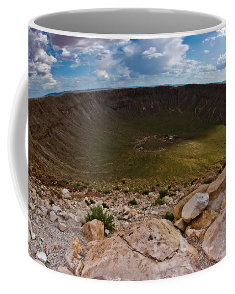 Meteor Coffee Mug featuring the photograph Barringer Meteor Crater #6 by Robert J Caputo