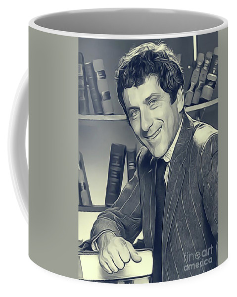 Barry Coffee Mug featuring the digital art Barry Newman, Petrocelli by John Springfield