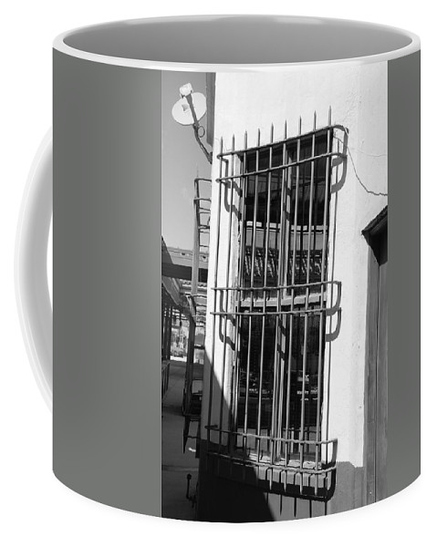 Train Station Coffee Mug featuring the photograph Bars by Rob Hans