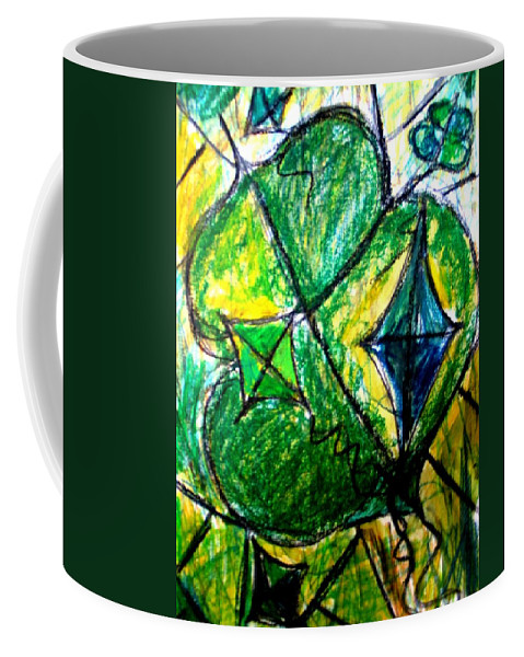 Painting Coffee Mug featuring the painting Basant by Fareeha Khawaja